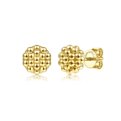 8mm Beaded Stud Earrings - SHOPKURY.COM