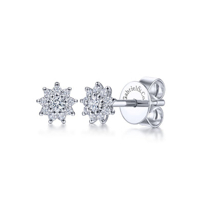 Flower Diamond Stud Earrings - Kury Jewelry