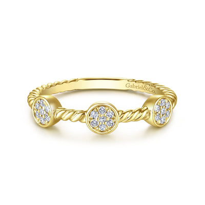 Diamond Dots Ring 14K - SHOPKURY.COM