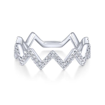 Zig Zag Diamond Ring 14K - SHOPKURY.COM