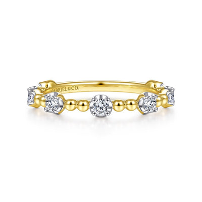 Diamond Stations Ring 14K by Gabriel & Co. - Available at SHOPKURY.COM. Free Shipping on orders over $200. Trusted jewelers since 1965, from San Juan, Puerto Rico.
