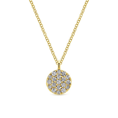 Diamond Pave Yellow Gold Necklace - SHOPKURY.COM