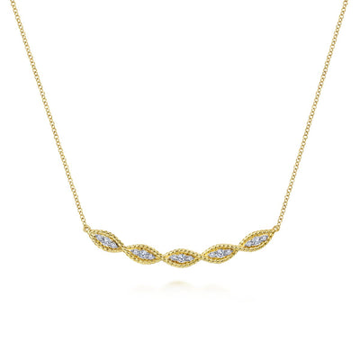 Twisted Diamonds Necklace - SHOPKURY.COM