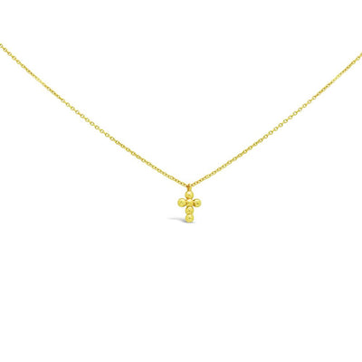Bubble Cross Kids Necklace by Kury - Available at SHOPKURY.COM. Free Shipping on orders over $200. Trusted jewelers since 1965, from San Juan, Puerto Rico.
