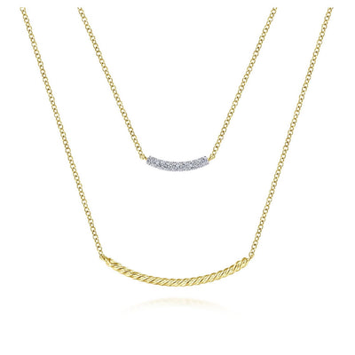Two Layer Necklace - SHOPKURY.COM