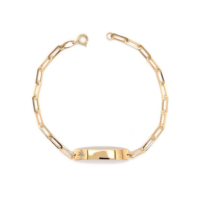 Paperclip Valentino Star Bracelet 14K by Kury - Available at SHOPKURY.COM. Free Shipping on orders over $200. Trusted jewelers since 1965, from San Juan, Puerto Rico.