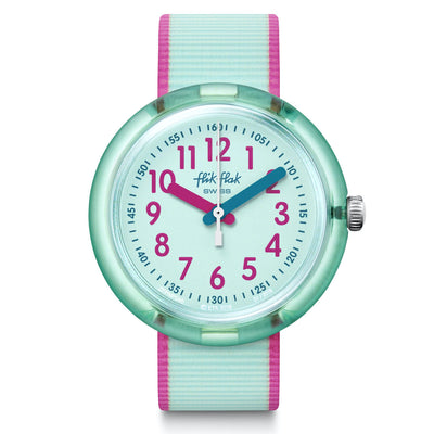 Colorblast Turquoise by Flik Flak by Swatch - Available at SHOPKURY.COM. Free Shipping on orders over $200. Trusted jewelers since 1965, from San Juan, Puerto Rico.