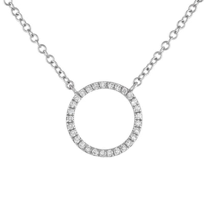 Diamond Open Circle Necklace 14K by Kury - Available at SHOPKURY.COM. Free Shipping on orders over $200. Trusted jewelers since 1965, from San Juan, Puerto Rico.