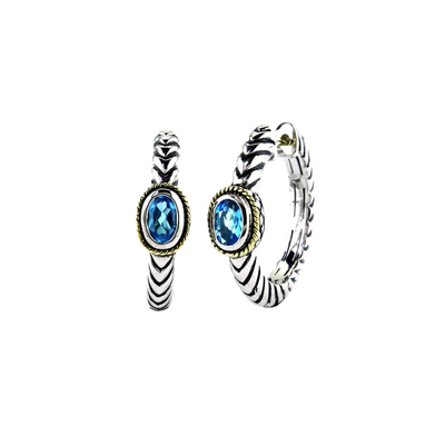 Blue Topaz Earrings by Kury - Available at SHOPKURY.COM. Free Shipping on orders over $200. Trusted jewelers since 1965, from San Juan, Puerto Rico.