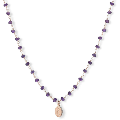 Amethyst Religious Necklace by Amen - Available at SHOPKURY.COM. Free Shipping on orders over $200. Trusted jewelers since 1965, from San Juan, Puerto Rico.