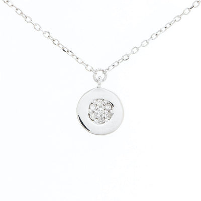Pave Disk Necklace by Kury - Available at SHOPKURY.COM. Free Shipping on orders over $200. Trusted jewelers since 1965, from San Juan, Puerto Rico.