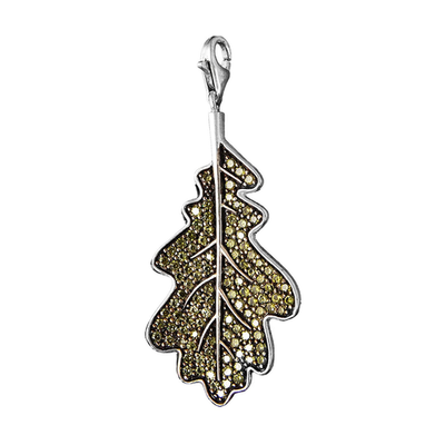 Green Leaf Charm by Thomas Sabo - Available at SHOPKURY.COM. Free Shipping on orders over $200. Trusted jewelers since 1965, from San Juan, Puerto Rico.