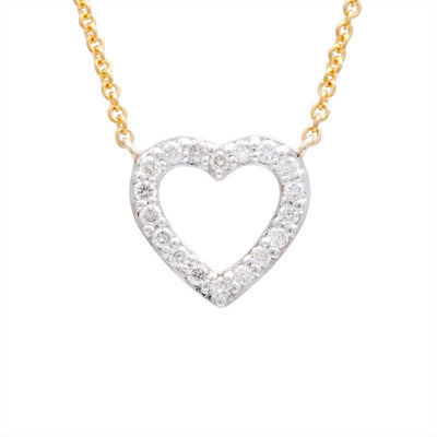 Open Heart Diamond Necklace 14K - Kury Jewelry