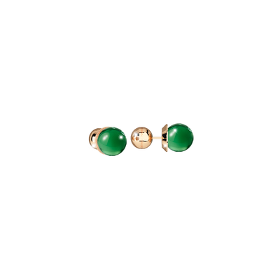 Green Golden Stud Earrings by Rebecca - Available at SHOPKURY.COM. Free Shipping on orders over $200. Trusted jewelers since 1965, from San Juan, Puerto Rico.