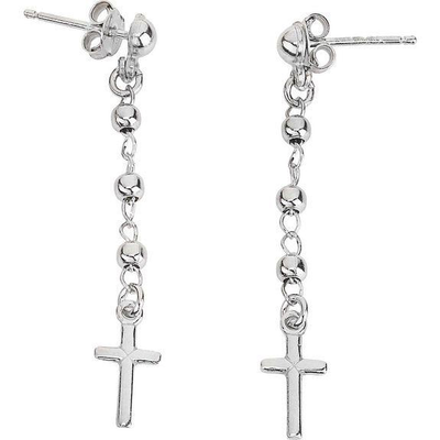 Cross Dangle Earrings by Amen - Available at SHOPKURY.COM. Free Shipping on orders over $200. Trusted jewelers since 1965, from San Juan, Puerto Rico.