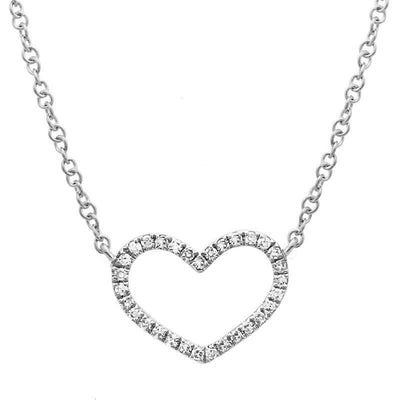 Open Heart Necklace 14K - SHOPKURY.COM