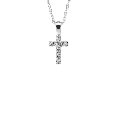 Mini Cross Necklace by Kury - Available at SHOPKURY.COM. Free Shipping on orders over $200. Trusted jewelers since 1965, from San Juan, Puerto Rico.