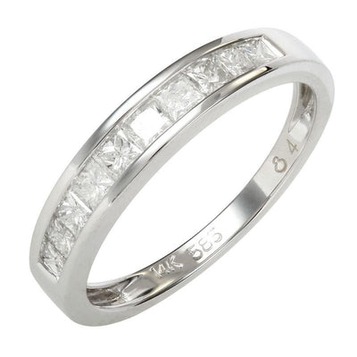 .49ct Princess Cut Wedding Band by Kury Bridal - Available at SHOPKURY.COM. Free Shipping on orders over $200. Trusted jewelers since 1965, from San Juan, Puerto Rico.