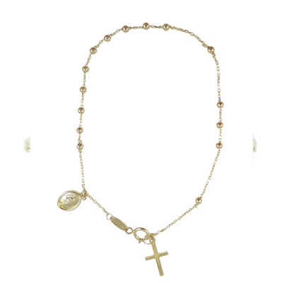 Rosary Milagrosa Gold Bracelet by Kury - Available at SHOPKURY.COM. Free Shipping on orders over $200. Trusted jewelers since 1965, from San Juan, Puerto Rico.