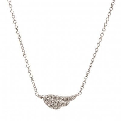 Petit Wing Necklace by Kury - Available at SHOPKURY.COM. Free Shipping on orders over $200. Trusted jewelers since 1965, from San Juan, Puerto Rico.