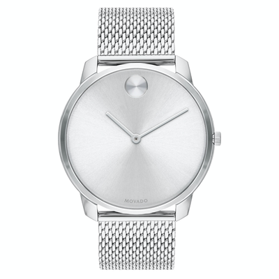 Bold 42mm Silver Mesh by Movado - Available at SHOPKURY.COM. Free Shipping on orders over $200. Trusted jewelers since 1965, from San Juan, Puerto Rico.