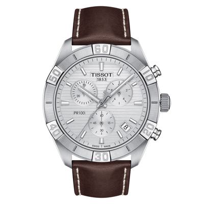 PR 100 Brown Sport Gent by Tissot - Available at SHOPKURY.COM. Free Shipping on orders over $200. Trusted jewelers since 1965, from San Juan, Puerto Rico.