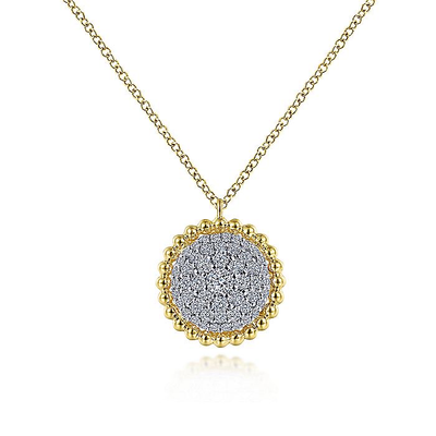 Diamond Pave Large Bujukan Bead Necklace by Gabriel & Co. - Available at SHOPKURY.COM. Free Shipping on orders over $200. Trusted jewelers since 1965, from San Juan, Puerto Rico.