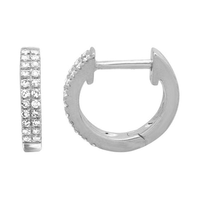 10mm Double Row Diamond Earrings 14K by Kury - Available at SHOPKURY.COM. Free Shipping on orders over $200. Trusted jewelers since 1965, from San Juan, Puerto Rico.