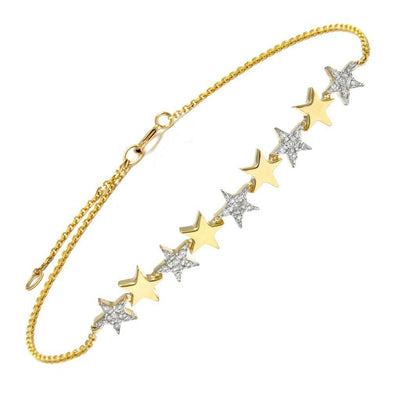 Multi Star Diamond Bar Bracelet by Kury - Available at SHOPKURY.COM. Free Shipping on orders over $200. Trusted jewelers since 1965, from San Juan, Puerto Rico.