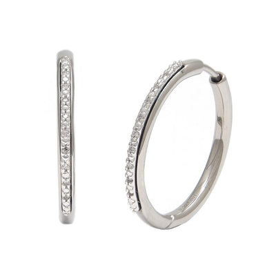 Steel Diamond Hoops - SHOPKURY.COM