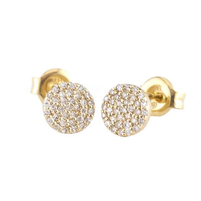 Shinny Disks Stud Earrings by Kury - Available at SHOPKURY.COM. Free Shipping on orders over $200. Trusted jewelers since 1965, from San Juan, Puerto Rico.
