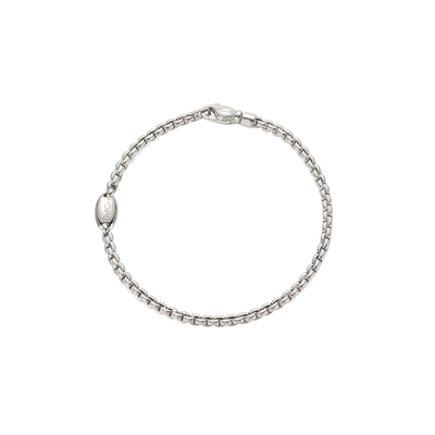 White Gold Bracelet with Clasp - SHOPKURY.COM