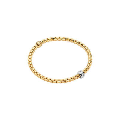 Yellow Gold Bracelet with Diamonds - SHOPKURY.COM