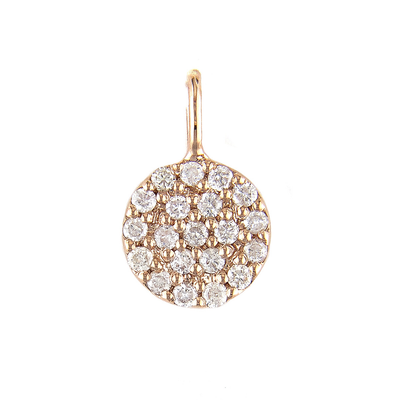Pave Disk Pendant by Kury - Available at SHOPKURY.COM. Free Shipping on orders over $200. Trusted jewelers since 1965, from San Juan, Puerto Rico.