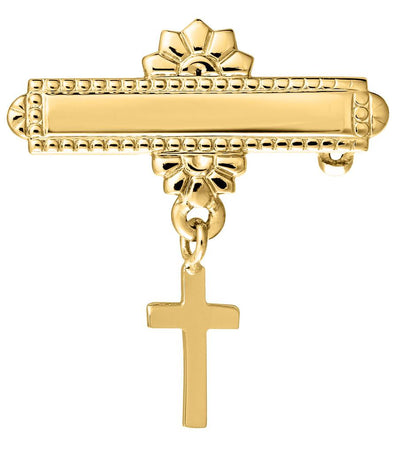 14K Pin with Cross by Kury - Available at SHOPKURY.COM. Free Shipping on orders over $200. Trusted jewelers since 1965, from San Juan, Puerto Rico.