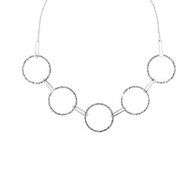 Copenhagen Circles Necklace by REBECCA - Available at SHOPKURY.COM. Free Shipping on orders over $200. Trusted jewelers since 1965, from San Juan, Puerto Rico.