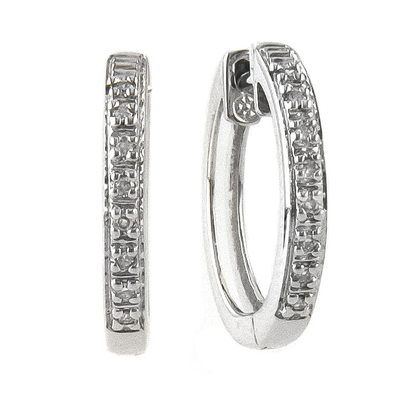 Diamond 14K Huggie Earrings - SHOPKURY.COM