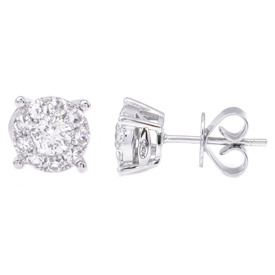 .45ct Diamond Earrings by Kury - Available at SHOPKURY.COM. Free Shipping on orders over $200. Trusted jewelers since 1965, from San Juan, Puerto Rico.