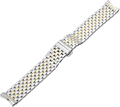 Two Tone Strap by MICHELE - Available at SHOPKURY.COM. Free Shipping on orders over $200. Trusted jewelers since 1965, from San Juan, Puerto Rico.