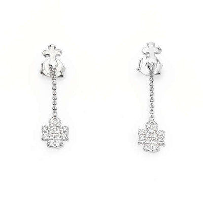 Cross and Angel Earrings by Amen - Available at SHOPKURY.COM. Free Shipping on orders over $200. Trusted jewelers since 1965, from San Juan, Puerto Rico.