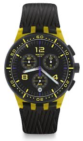 yellow tire by Swatch - Available at SHOPKURY.COM. Free Shipping on orders over $200. Trusted jewelers since 1965, from San Juan, Puerto Rico.