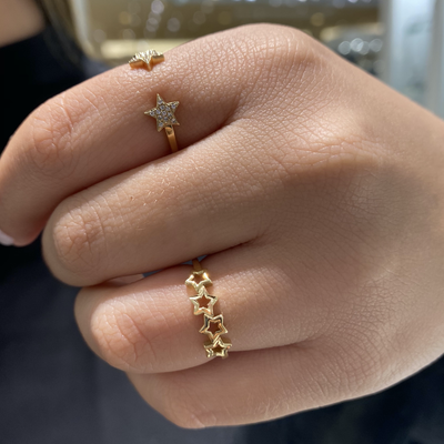 Four Open Stars Ring by Kury - Available at SHOPKURY.COM. Free Shipping on orders over $200. Trusted jewelers since 1965, from San Juan, Puerto Rico.