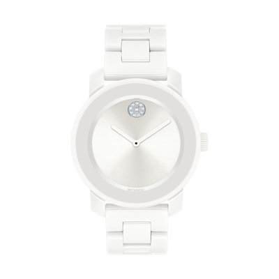 BOLD White Ceramic 36mm - Kury Jewelry