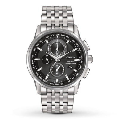 WORLD CHRONOGRAPH A-T 43mm by Citizen - Available at SHOPKURY.COM. Free Shipping on orders over $200. Trusted jewelers since 1965, from San Juan, Puerto Rico.