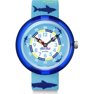 sharkasm by Flik Flak by Swatch - Available at SHOPKURY.COM. Free Shipping on orders over $200. Trusted jewelers since 1965, from San Juan, Puerto Rico.