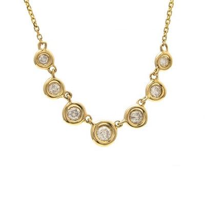 Gradient Diamond Necklace by Kury - Available at SHOPKURY.COM. Free Shipping on orders over $200. Trusted jewelers since 1965, from San Juan, Puerto Rico.