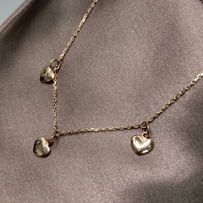 Puffy Rose Gold Necklace 14K - SHOPKURY.COM
