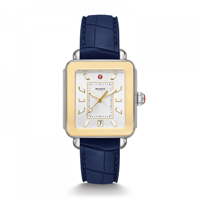 Navy Blue Golden Deco Sport by MICHELE - Available at SHOPKURY.COM. Free Shipping on orders over $200. Trusted jewelers since 1965, from San Juan, Puerto Rico.