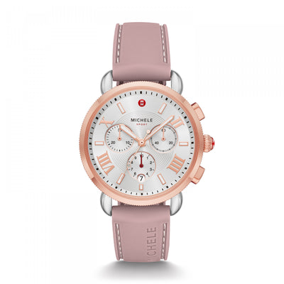 Sporty Sport Sail Pink Gold by MICHELE - Available at SHOPKURY.COM. Free Shipping on orders over $200. Trusted jewelers since 1965, from San Juan, Puerto Rico.