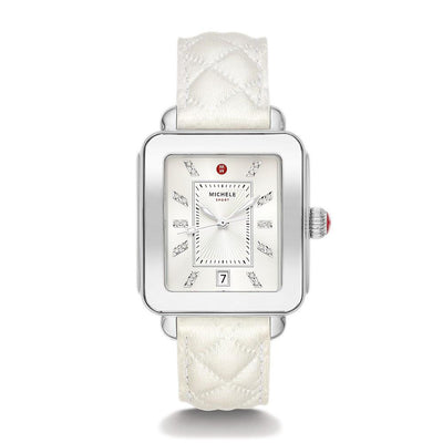 Deco Sport White Quilted by MICHELE - Available at SHOPKURY.COM. Free Shipping on orders over $200. Trusted jewelers since 1965, from San Juan, Puerto Rico.